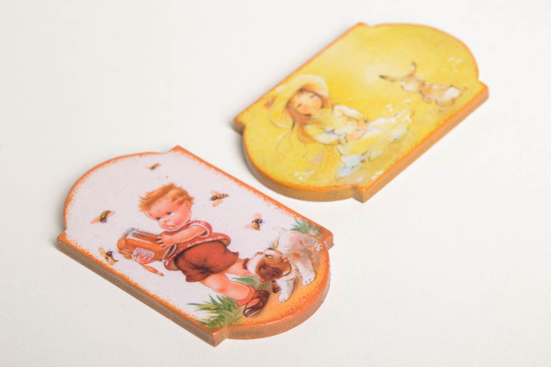 Decoupage fridge magnet stylish handmade kitchen decor decorative use only photo 5