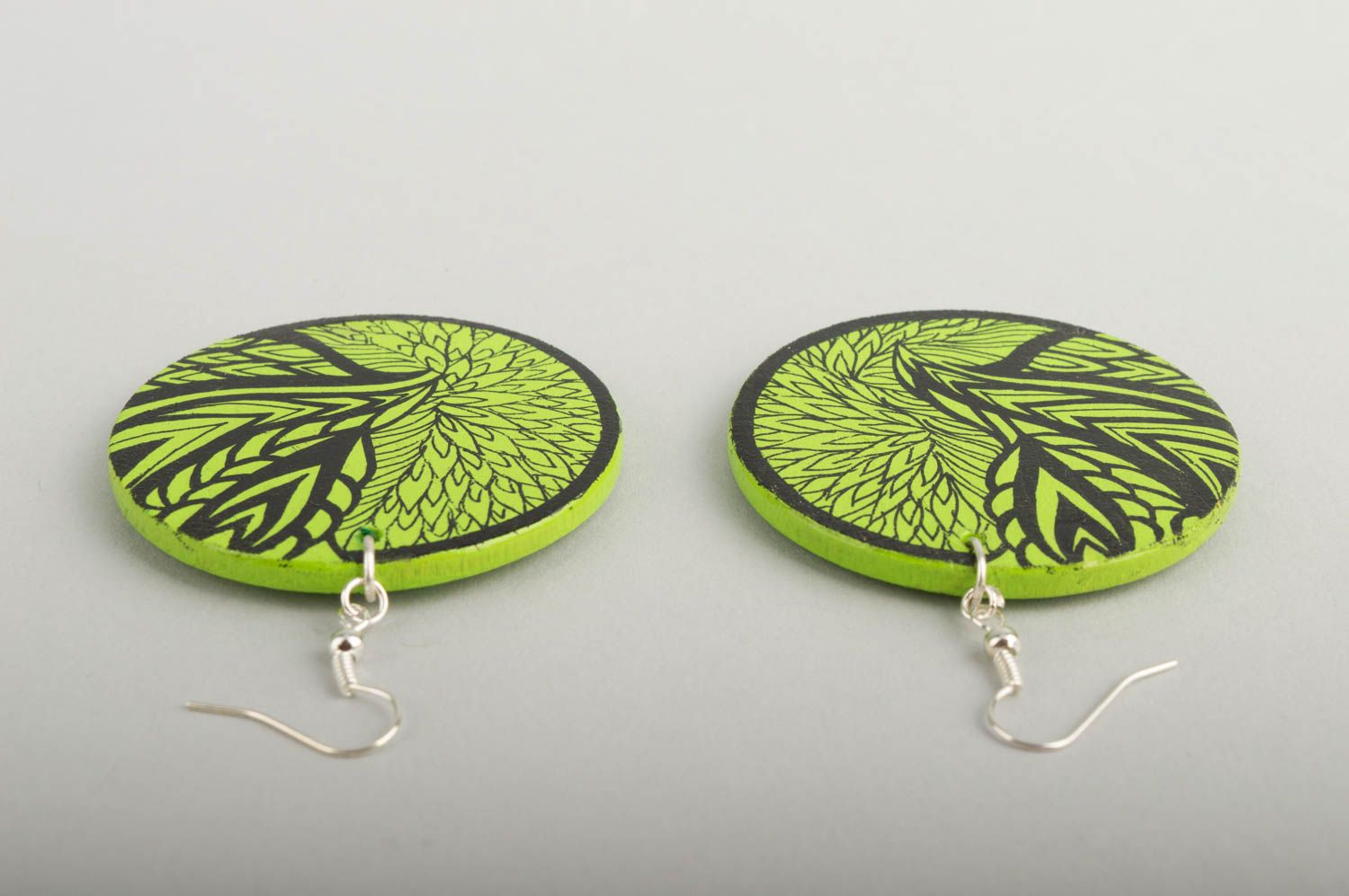 Fashion jewelry handmade earrings wooden jewelry designer accessories gift ideas photo 5