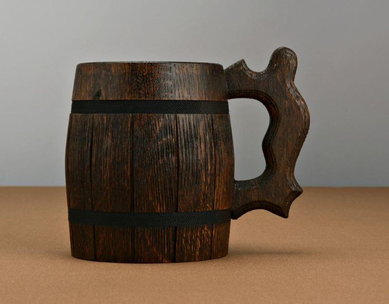 Large beer mug with metal inside photo 3
