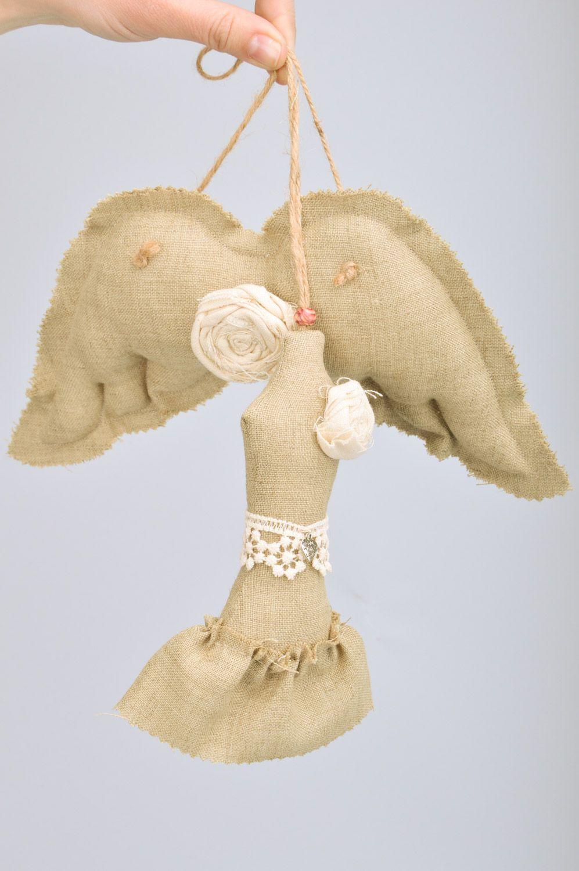 Handmade wall hanging linen sachet pillows Dress and Wings set of 2 items  photo 3
