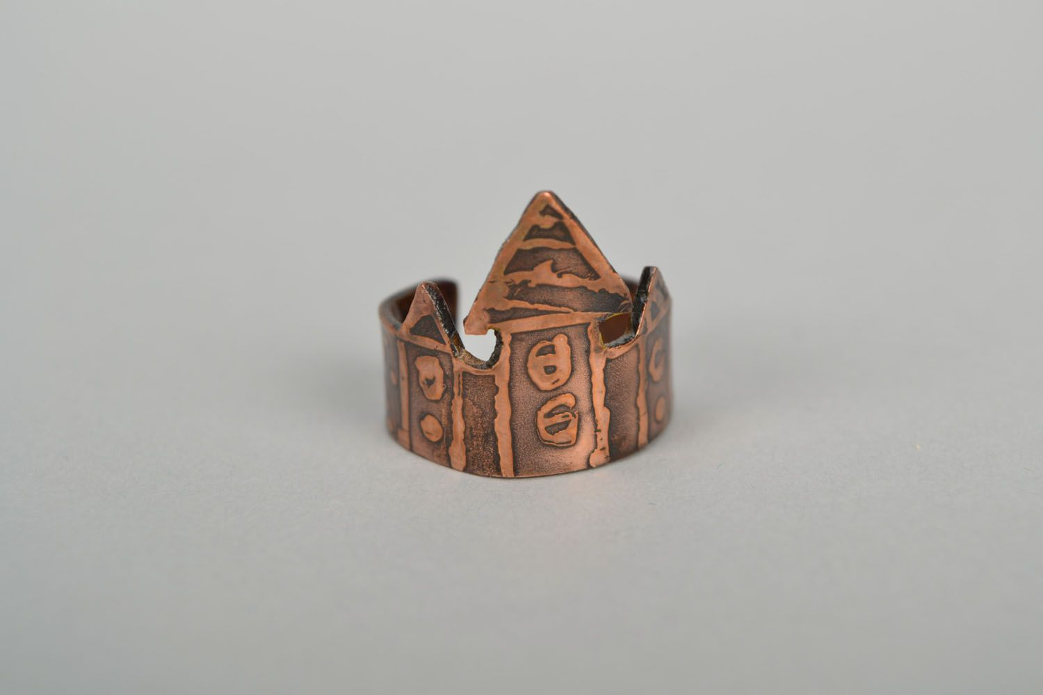 Copper ring Houses photo 4