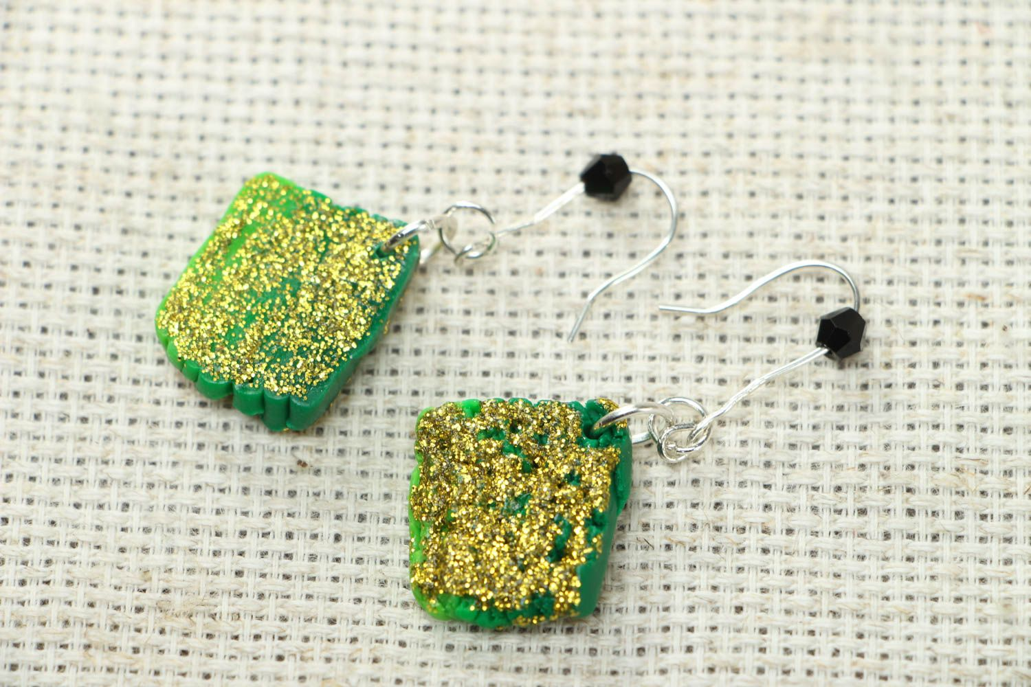 Unusual polymer clay earrings photo 1