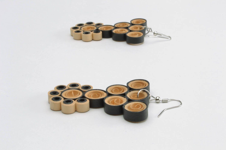 Long pendant paper earrings  photo 3