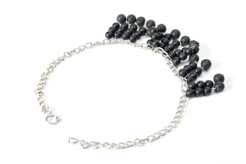 Black handmade necklace  photo 3