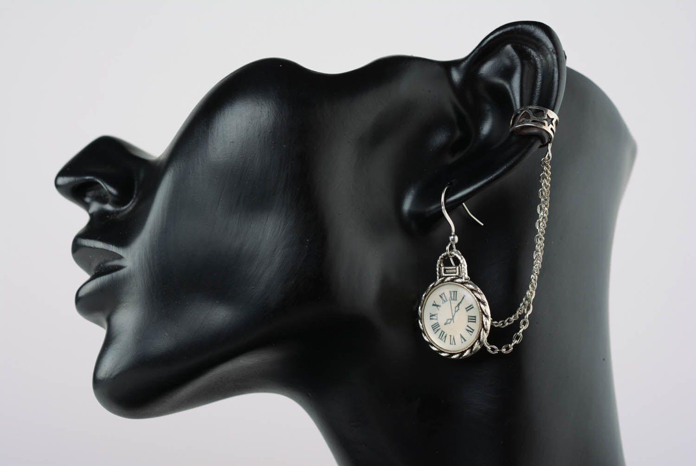Cuff earrings Clock photo 1