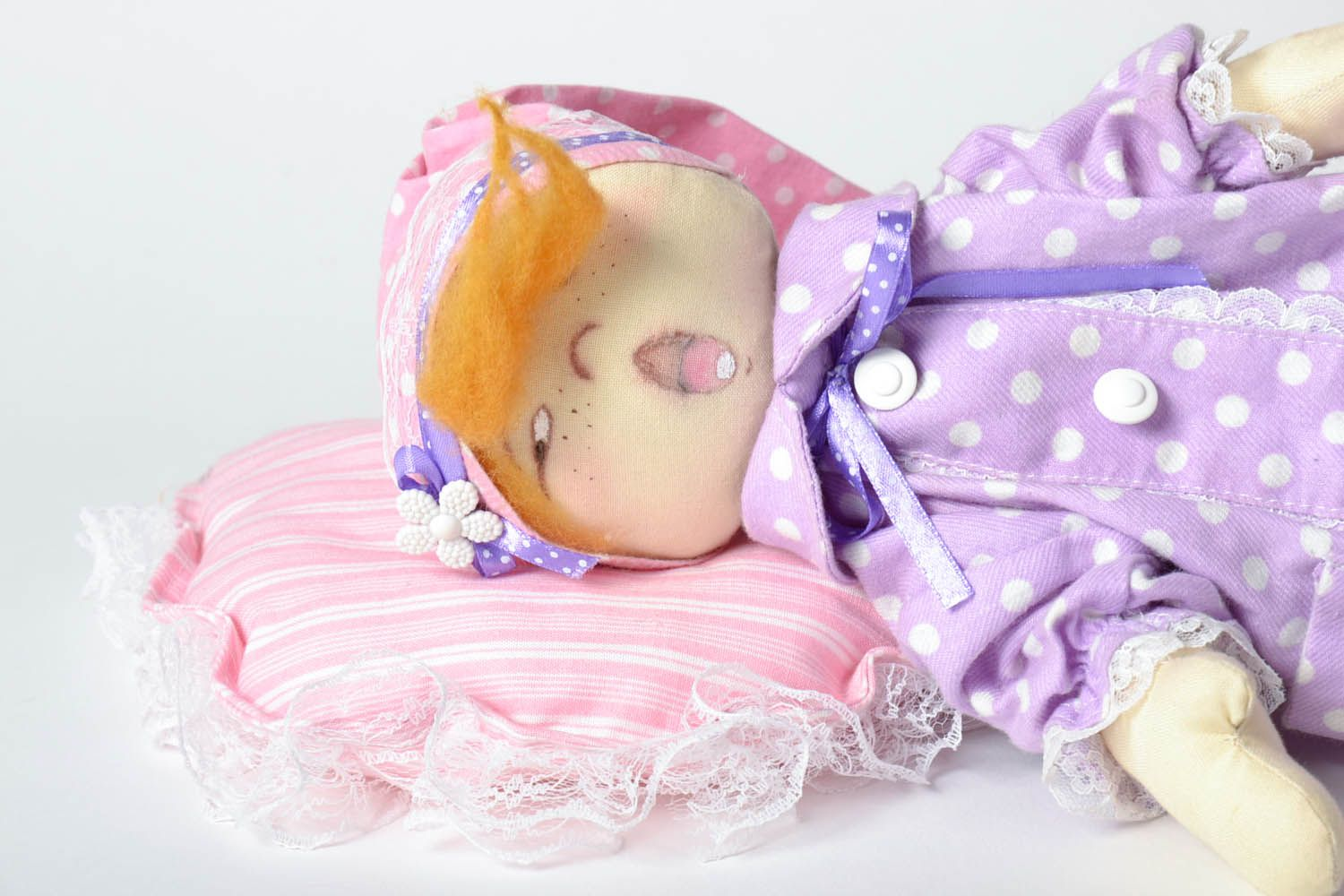 Decorative doll Sonya with a Pillow photo 3