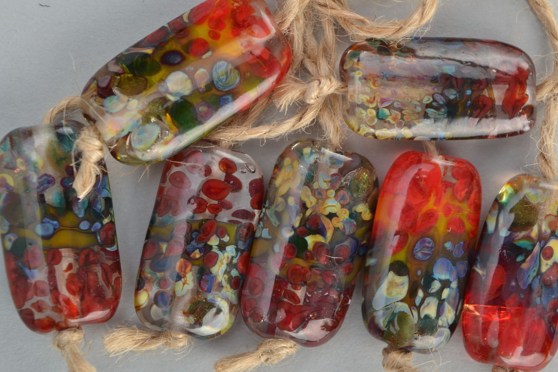 Set of glass beads photo 2
