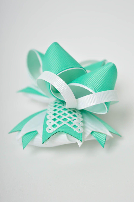 Handmade girls hair bow hair scrunchie bow hair tie designer accessories photo 4