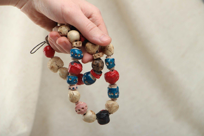 Colorful ceramic bead necklace photo 4