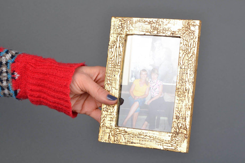 Handmade golden photo frame photo 2