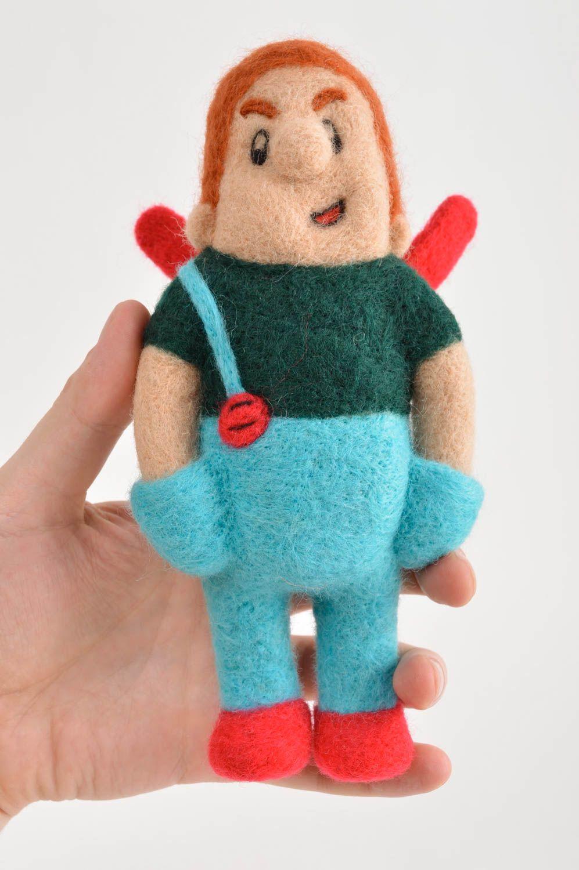 felted toys Handmade cute woolen toy unusual beautiful bright toy unusual interior decor - MADEheart.com