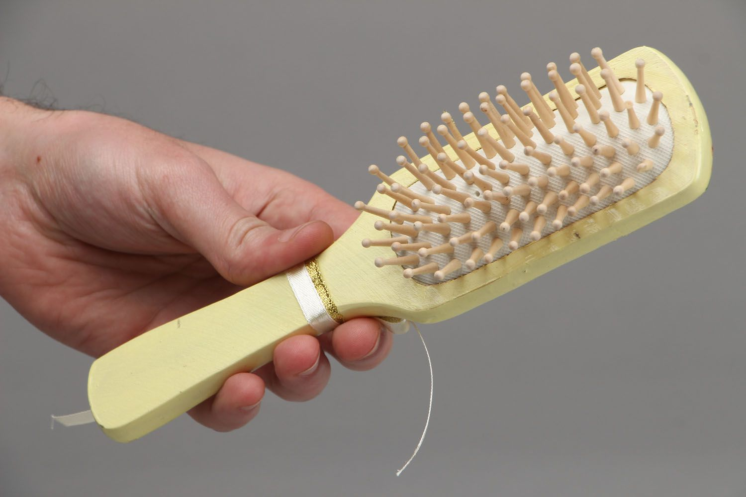 Wooden comb for hair photo 4