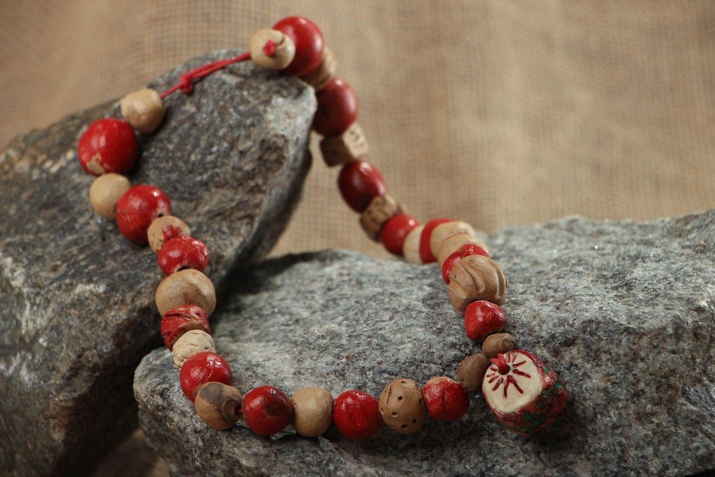 Ethnic bead necklace photo 5