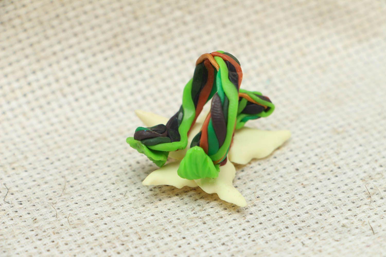 Blume Ring aus Polymerton foto 3