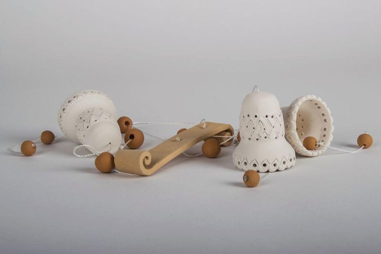 3 ceramic bells  photo 5
