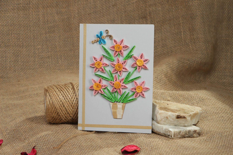 Handmade quilling postcard photo 5