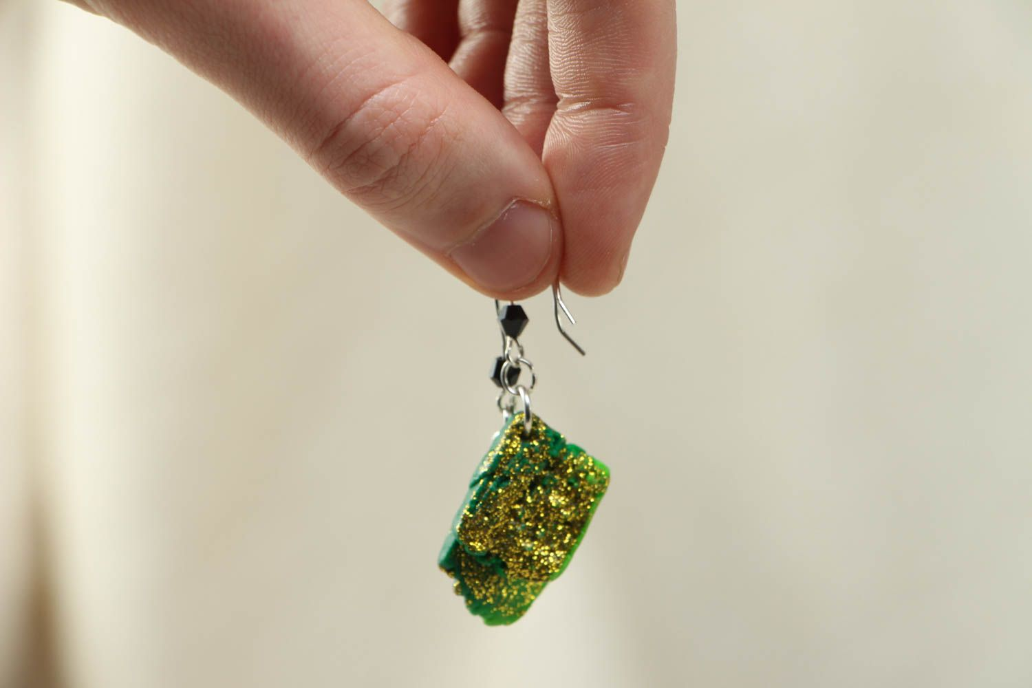 Unusual polymer clay earrings photo 3