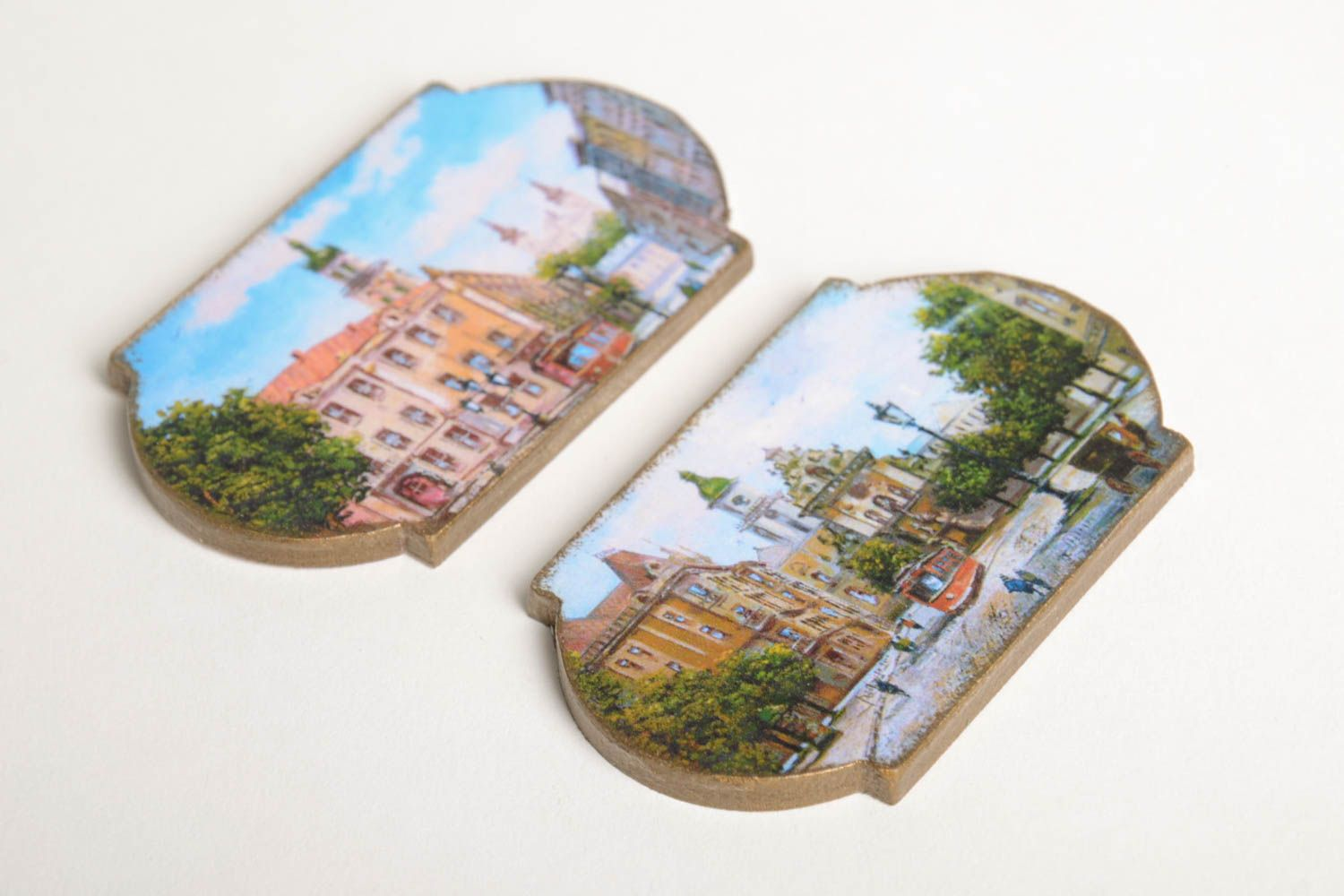 Handmade fridge magnet 2 pieces home decoration small gifts decorative use only photo 5