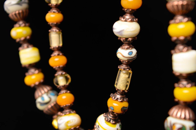 Collier aus Perlen Lampwork foto 5