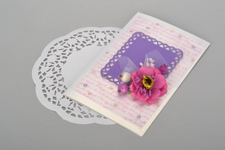 Decorative postcard with flowers  photo 5