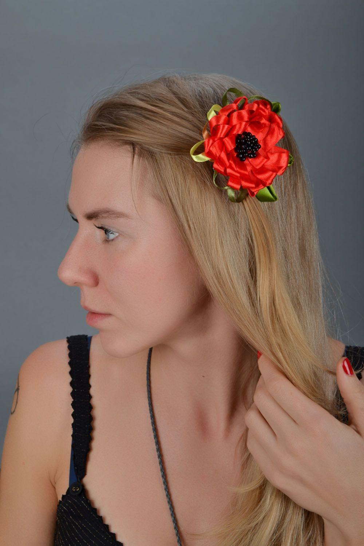 Hair brooch Poppy photo 1