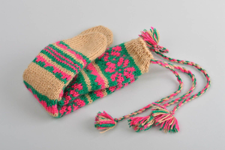 Unusual handmade knitted socks warm childrens socks handmade accessories - MADEheart.com
