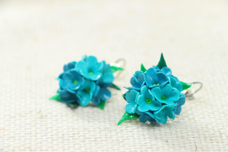 Polymer clay flower earrings photo 2