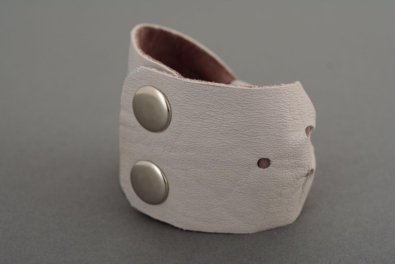 Женский браслет из кожи фото 2