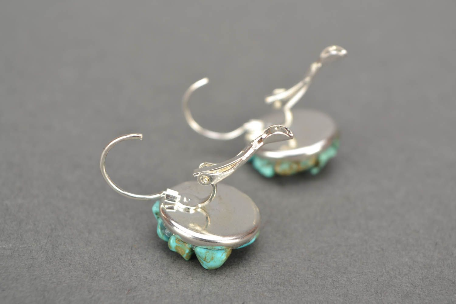 Handmade turquoise earrings photo 5