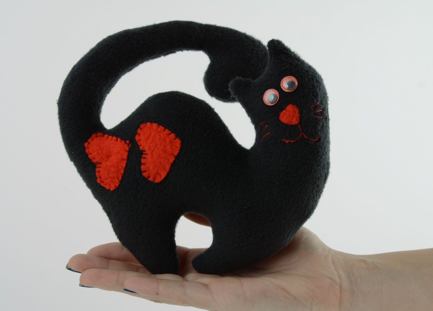 Soft toy for the door handle Black Cat photo 4