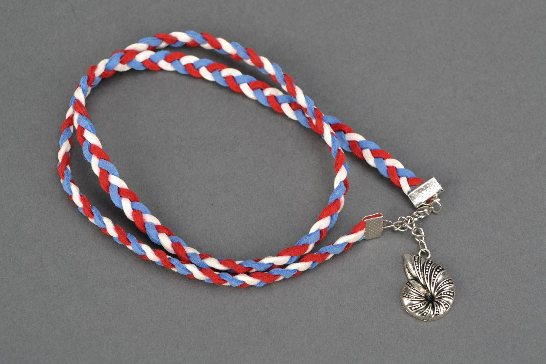 Suede wrist bracelet Seashell photo 3