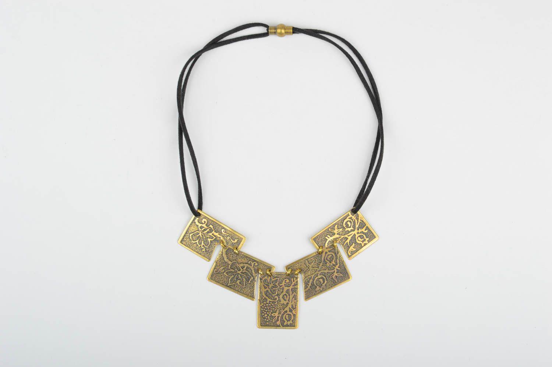 Handmade unusual jewelry metal designer accessories stylish beautiful necklace photo 2