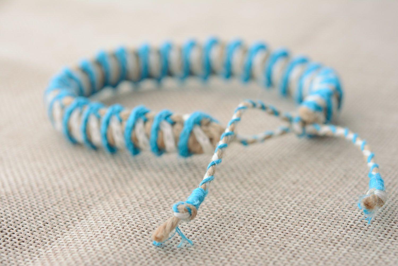 Linen friendship bracelet photo 2