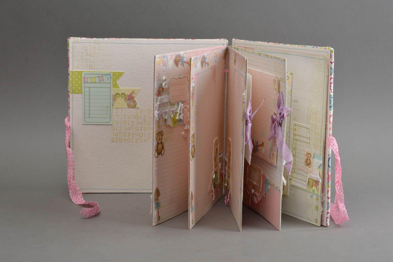 Top MADEHEART > Album photo bébé fille couverture en tissu fait main  YN08