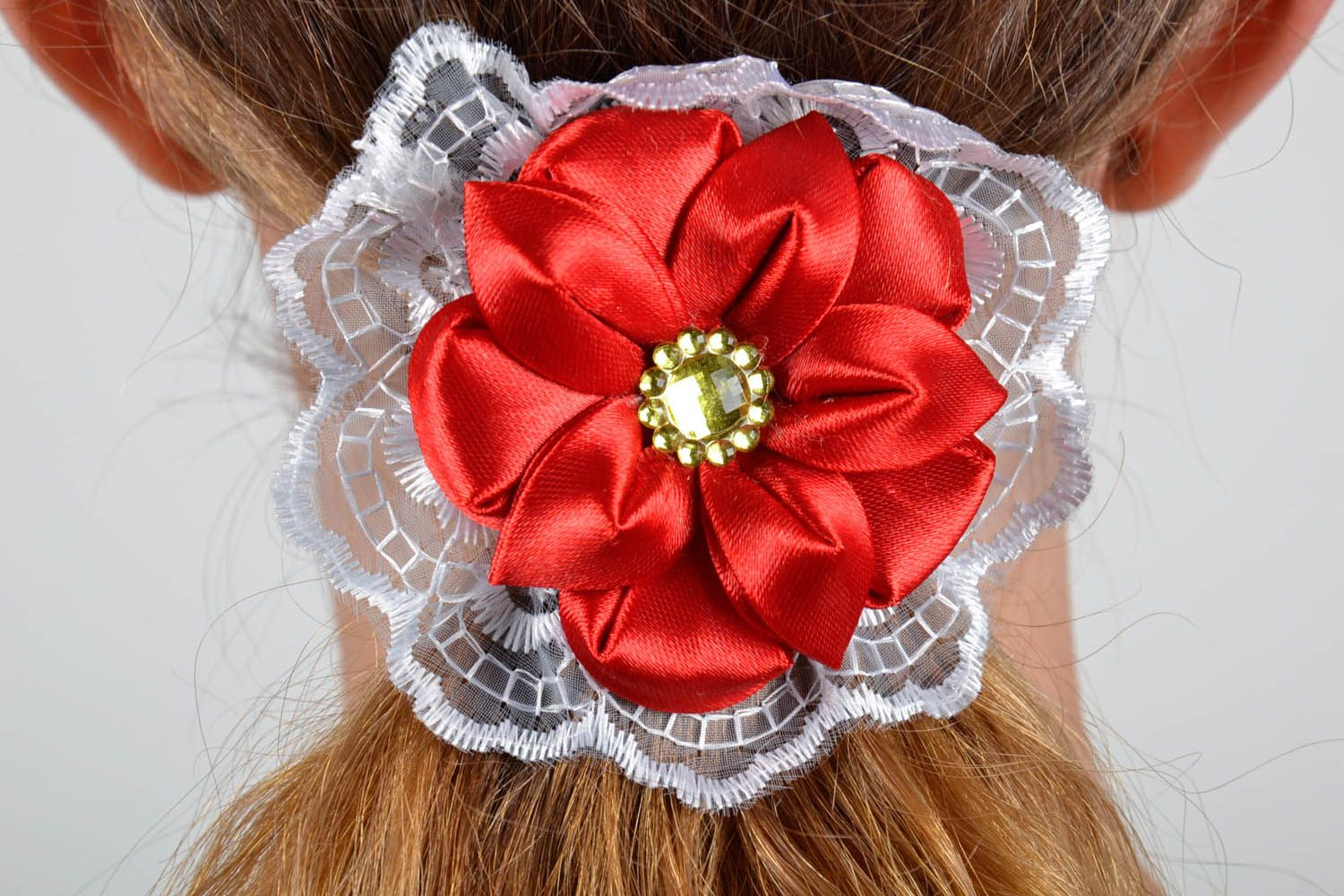 Scrunchy Red Flower photo 5