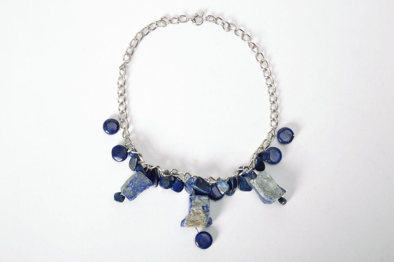 Lazurite necklace photo 2