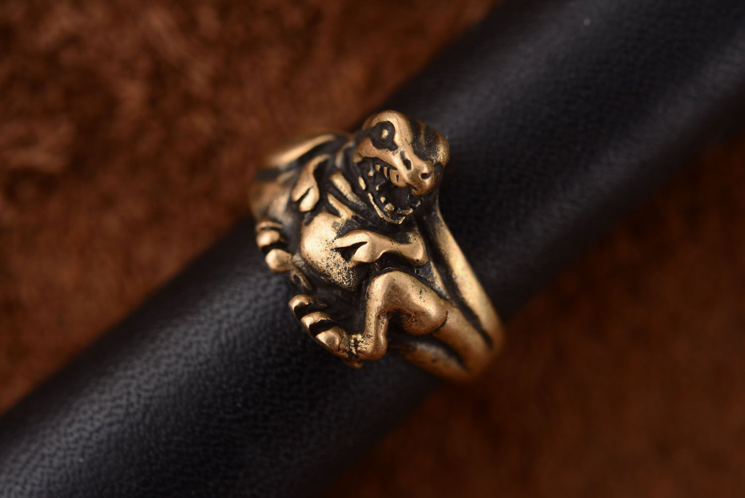 Bronze seal ring Dragon photo 3