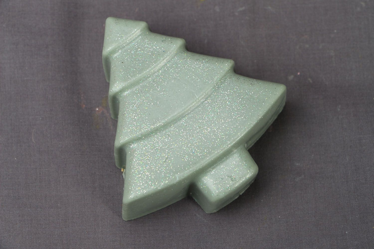 Beautiful soap in the shape of fir tree photo 1