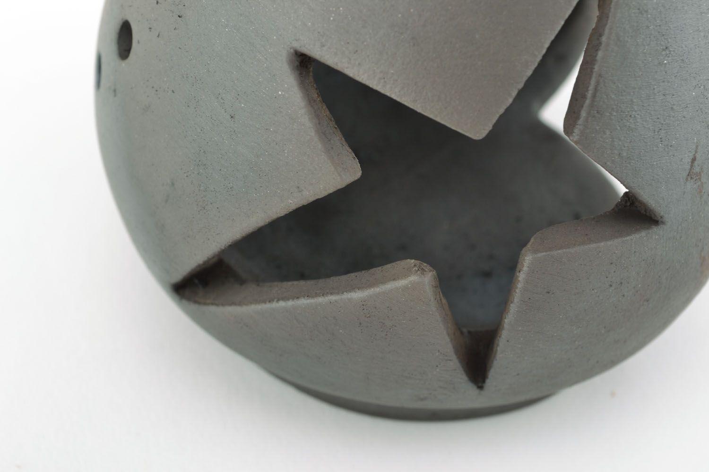 Ceramic oil burner Stars photo 2