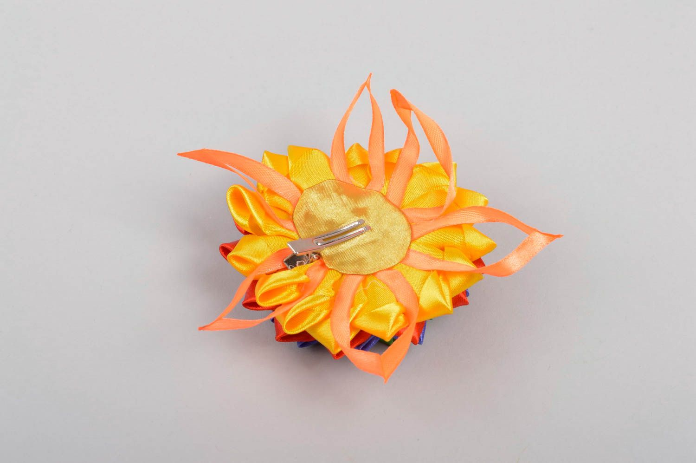 Handmade flower hair clip unusual bright hair clip cute accessory for kids photo 4