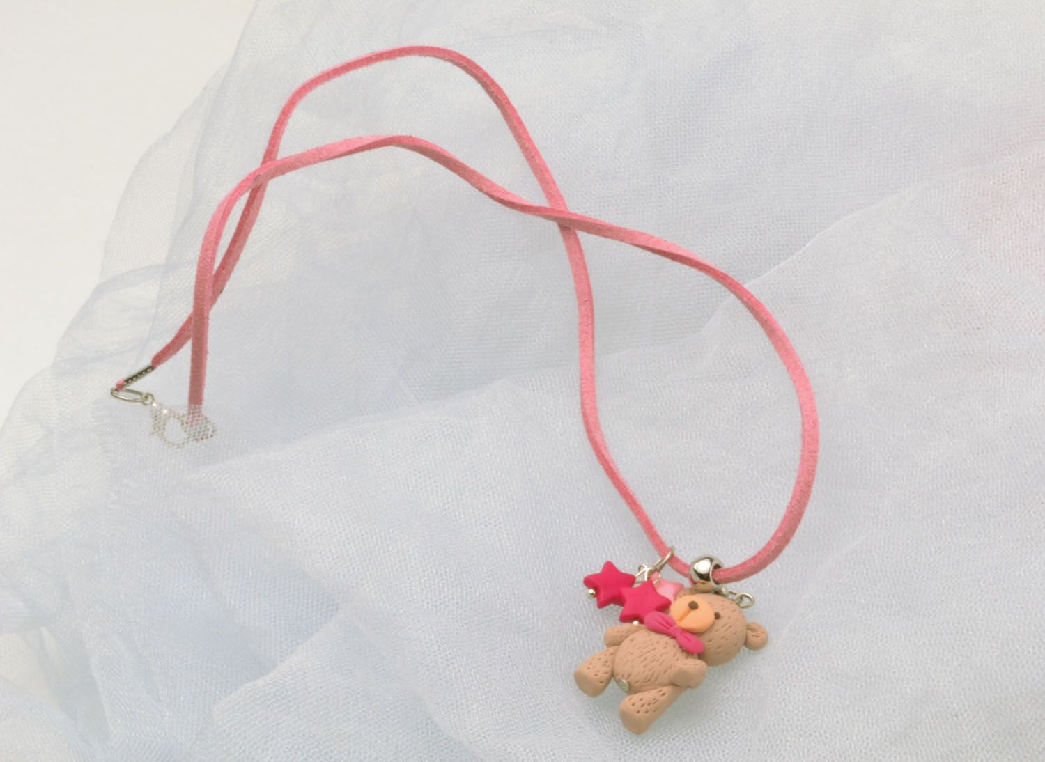 Pendant made of polymer clay photo 1