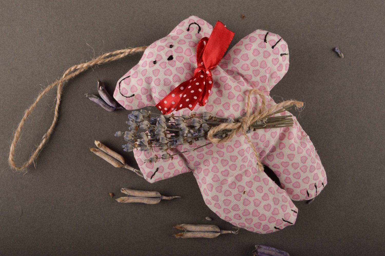 Handmade pink soft sachet pillow with herbs toy bear photo 2