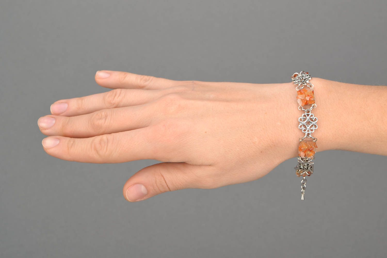 Handmade carnelian bracelet photo 2