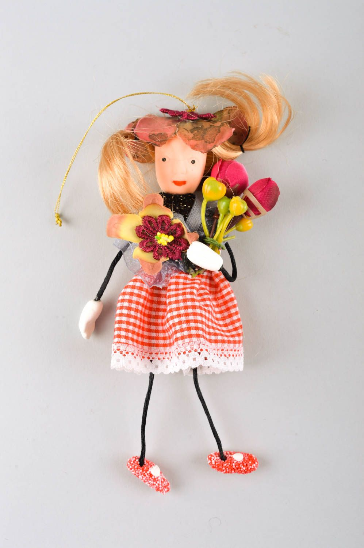 Unusual handmade rag doll collectible dolls nursery design decorative use only photo 2