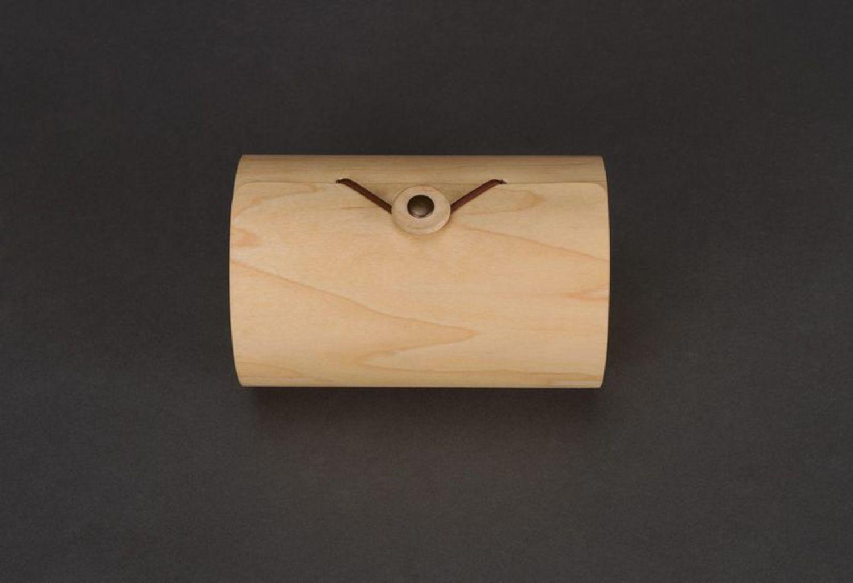 Box made of birch bark wood photo 3