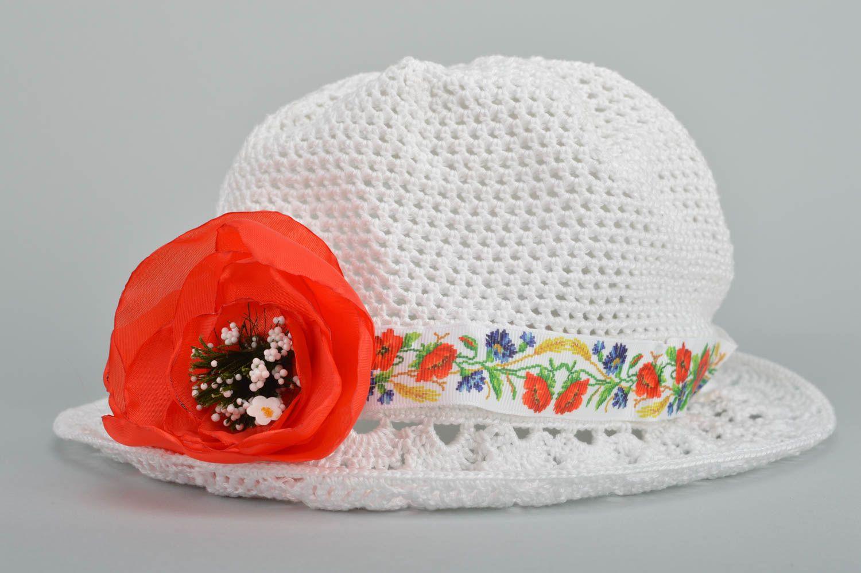 Designer unique girl crocheted hat handmade cotton headdress present for kids photo 1