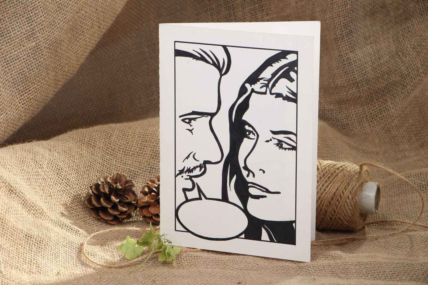 Designer greeting card Important Words photo 5