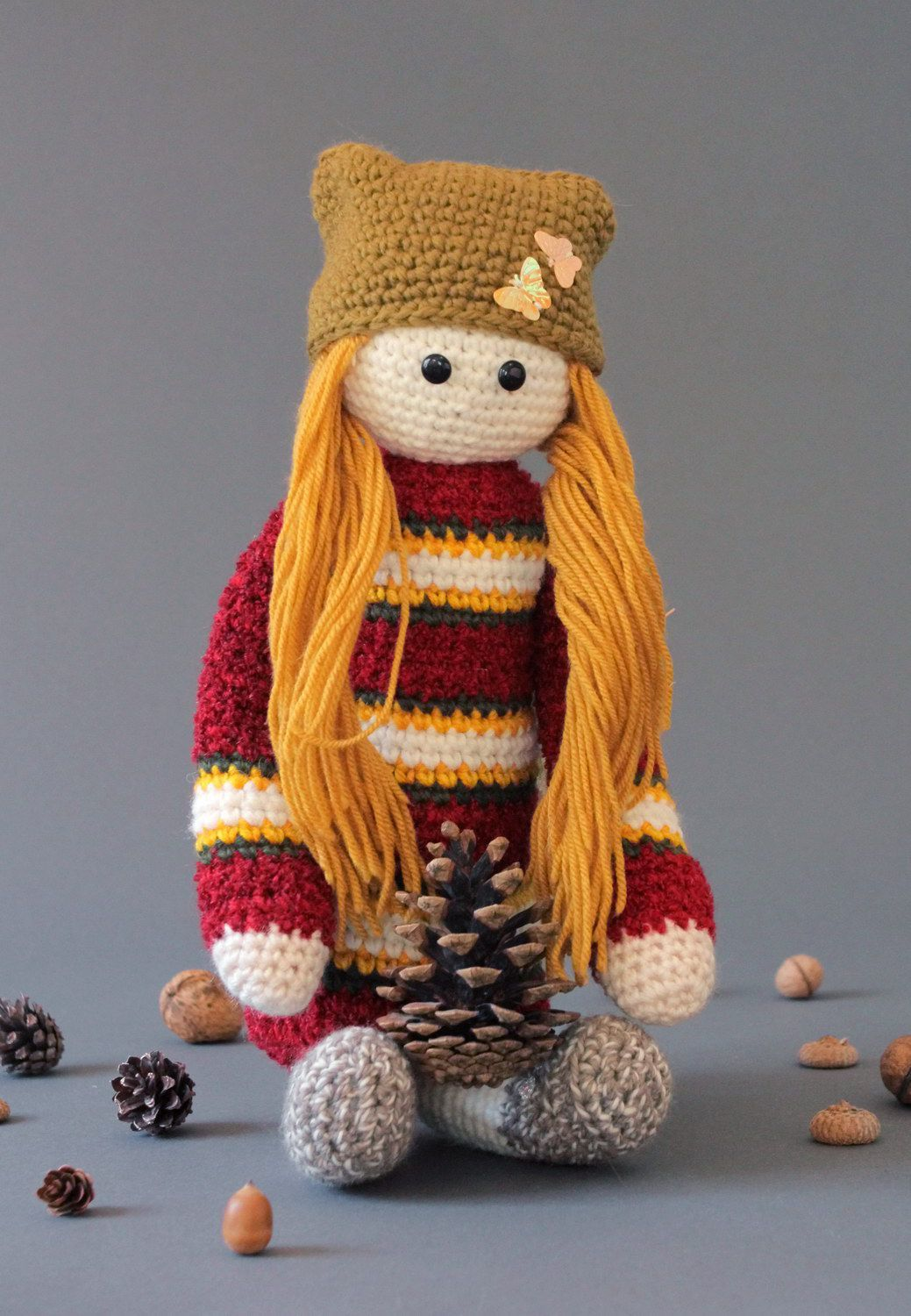 Striped knitted doll  photo 5