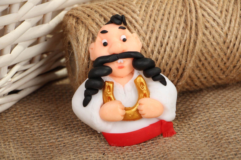 Polymer clay souvenir magnet Cossack photo 5