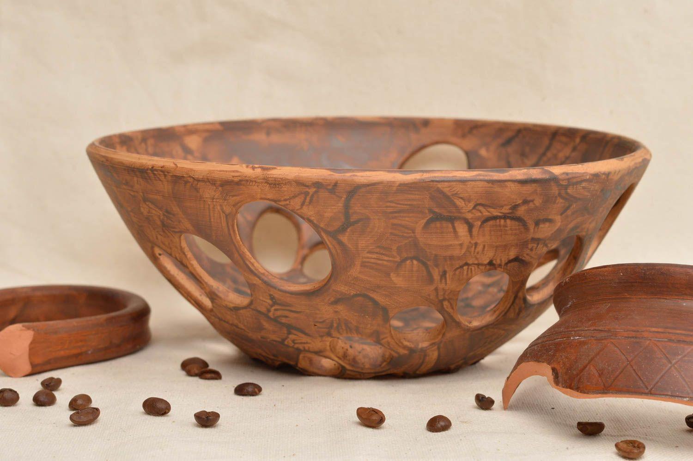 Madeheart cuenco de barro artesanal art culo de cer mica for Articulos de ceramica